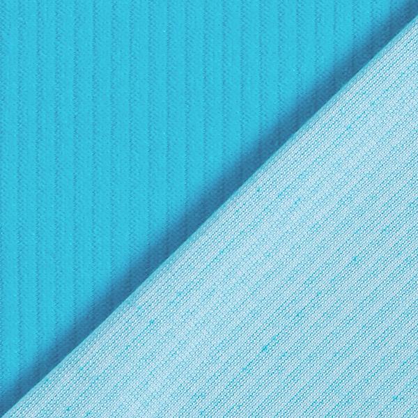 Tissu velours côtelé nicki biologique| Hamburger Liebe – bleu aqua