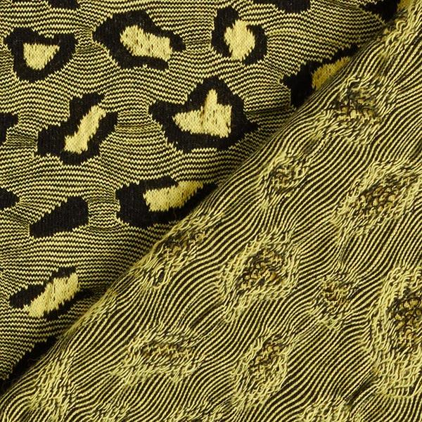 Weekender Single Safari Jersey Jacquard GOTS – jaune clair | Albstoffe | Hamburger Liebe