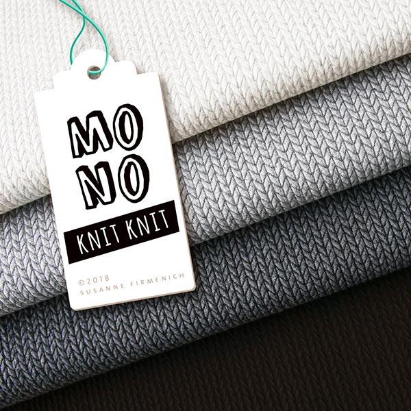 Jacquard Knit Knit GOTS – blanc/gris | Albstoffe | Hamburger Liebe