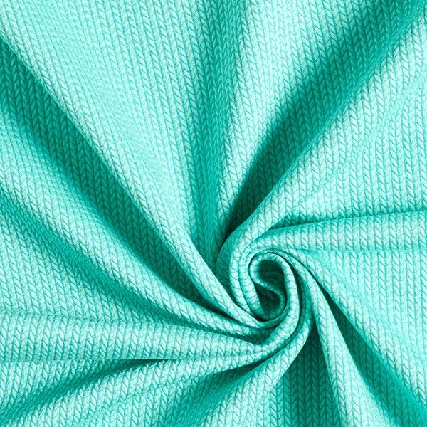 Jacquard Knit Knit GOTS – vert menthe| Hamburger Liebe