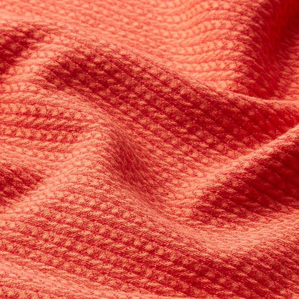 Jacquard Knit Knit GOTS – rouge-orange | Albstoffe | Hamburger Liebe