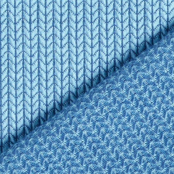 Jacquard Knit Knit GOTS – bleu jean| Hamburger Liebe