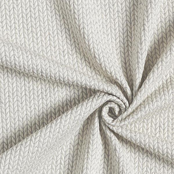 Big Knit Jacquard GOTS – écru/gris clair | Albstoffe | Hamburger Liebe
