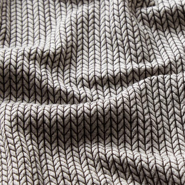 Jacquard Big Knit GOTS – gris clair/noir| Hamburger Liebe