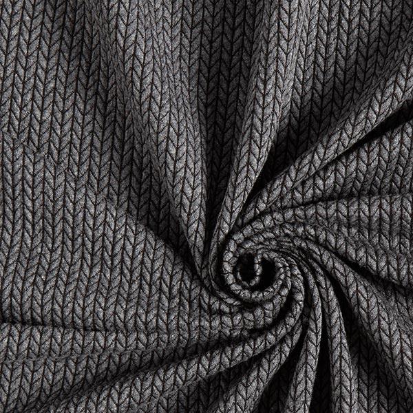 Jacquard Big Knit GOTS – anthracite | Albstoffe | Hamburger Liebe
