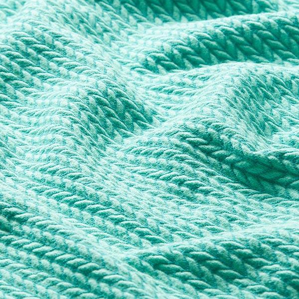 Jacquard Big Knit GOTS – vert menthe   Albstoffe   Hamburger Liebe