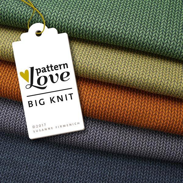 Jacquard Big Knit GOTS – terre cuite   Albstoffe   Hamburger Liebe