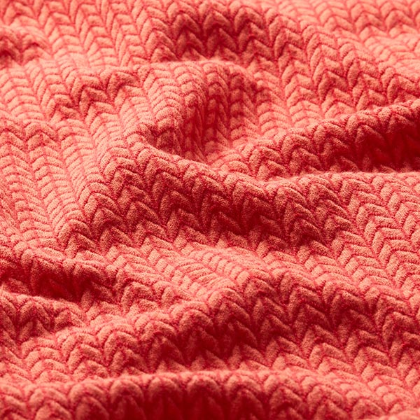 Jacquard Big Knit GOTS – rouge-orange | Albstoffe | Hamburger Liebe