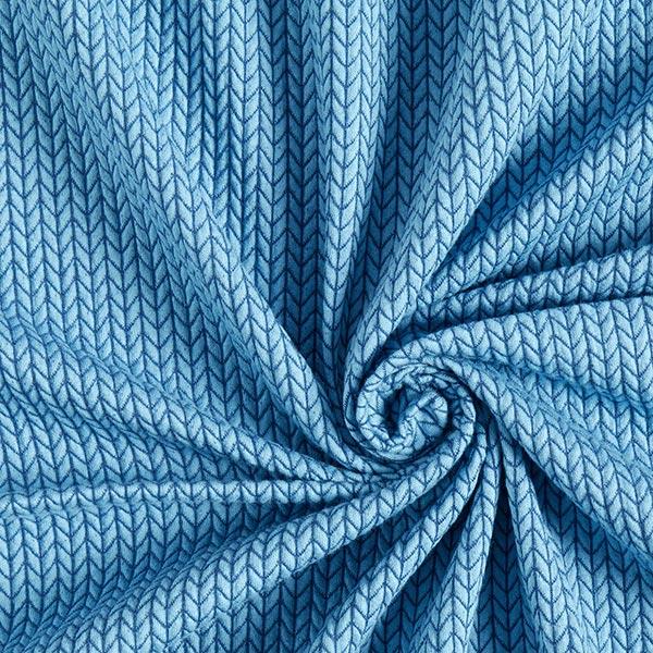 Jacquard Big Knit GOTS – bleu jean | Albstoffe | Hamburger Liebe