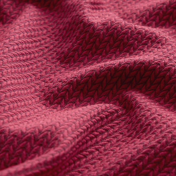 Jacquard Bio GOTS Big Knit – pourpre | Albstoffe | Hamburger Liebe