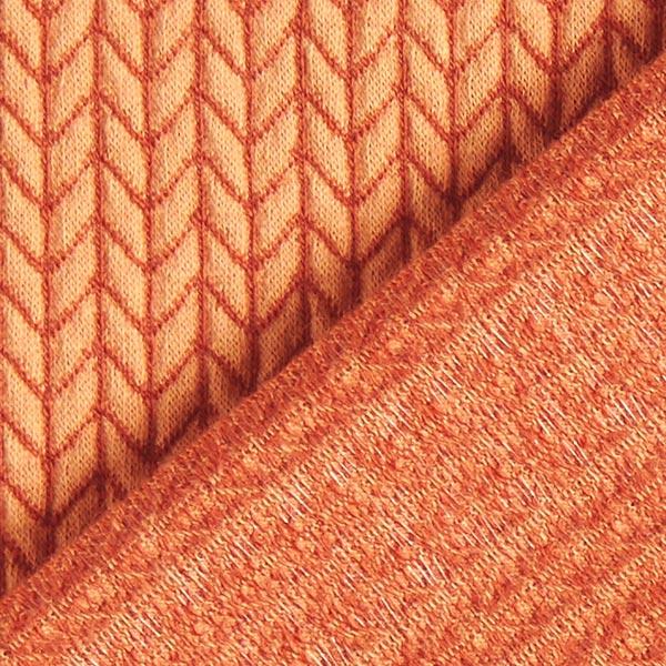 Jacquard Bio GOTS Big Knit – orange   Hamburger Liebe