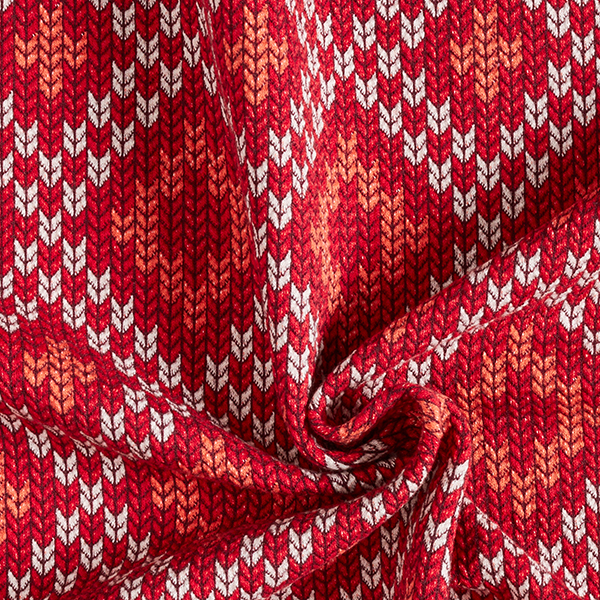 PLAIN STITCHES Nordic Knit Jersey GOTS – rouge | Albstoffe | Hamburger Liebe