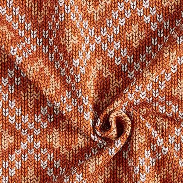 PLAIN STITCHES Nordic Knit Jersey GOTS – terre cuite | Hamburger Liebe