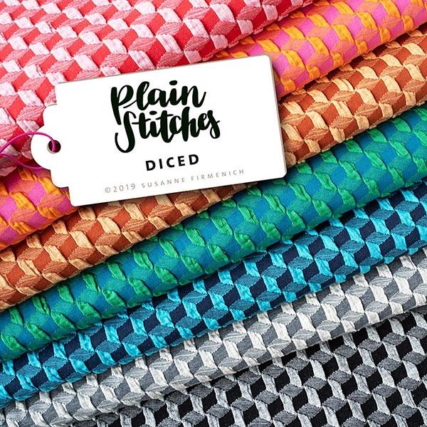 PLAIN STITCHES Diced Cloqué Jersey GOTS – gris/noir | Albstoffe | Hamburger Liebe