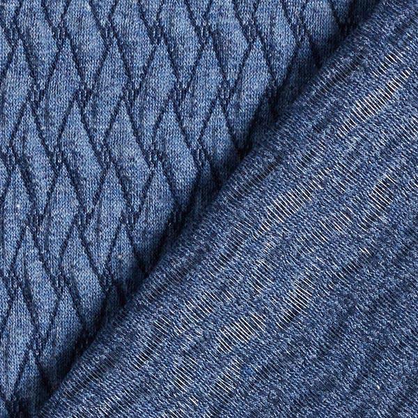 PLAIN STITCHES Basket Knit Jersey GOTS – bleu jean | Hamburger Liebe