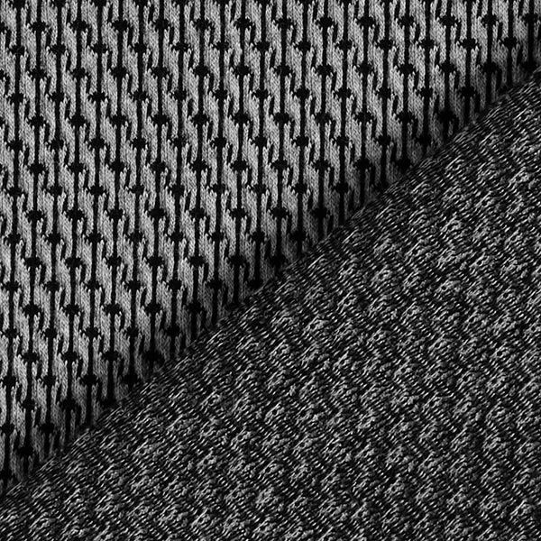 ORIENT OXIDENT Jacquard Jersey Rope Knit GOTS – gris/anthracite | Albstoffe | Hamburger Liebe