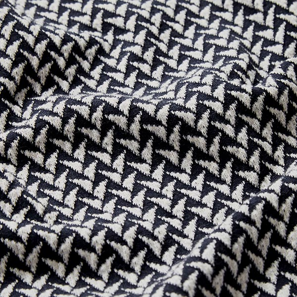 SHINE Jacquard Jersey In And Out GOTS – schwarz   Albstoffe   Hamburger Liebe