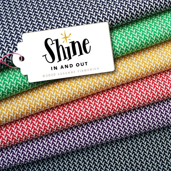 SHINE Jacquard Jersey In And Out GOTS – schwarz | Albstoffe | Hamburger Liebe