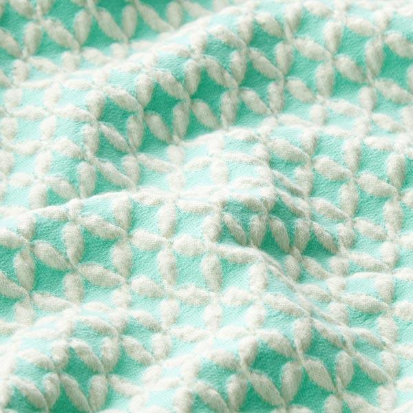 SAKURA Jacquardjersey 3D Shippou Knit GOTS – mintgrün | Albstoffe | Hamburger Liebe