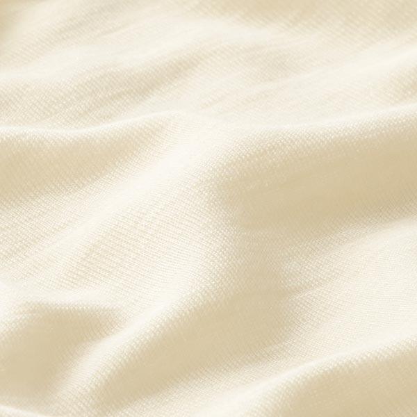 GOTS Wolle-Seide Jersey Feinripp   Albstoffe – natur