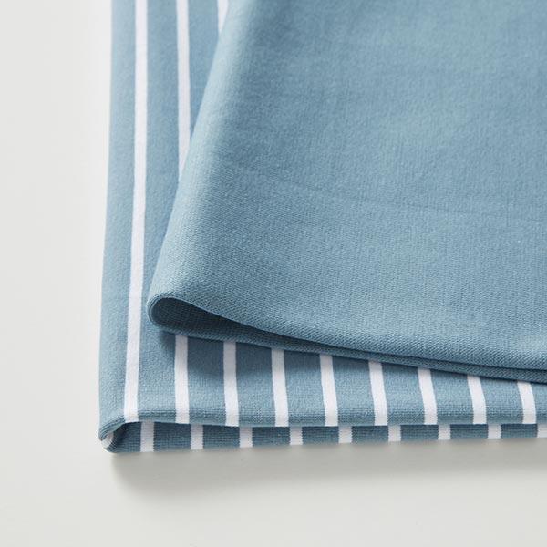 Bord-côtes coton GOTS – bleu clair | Albstoffe