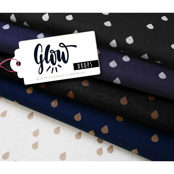 GLOW Glam Drops Jacquard – navy/silber | Albstoffe | Hamburger Liebe