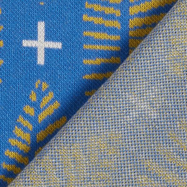 Wanderlust Glade Jacquard Jersey GOTS – bleu roi | Albstoffe | Hamburger Liebe