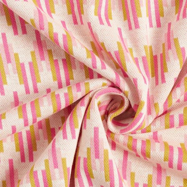 BLISS Pick a Stick Jacquard Jersey GOTS – écru|Hamburger Liebe