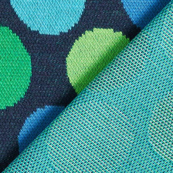 PLAIN STITCHES Ball Pool Jacquard Jersey GOTS – bleu/vert | Hamburger Liebe