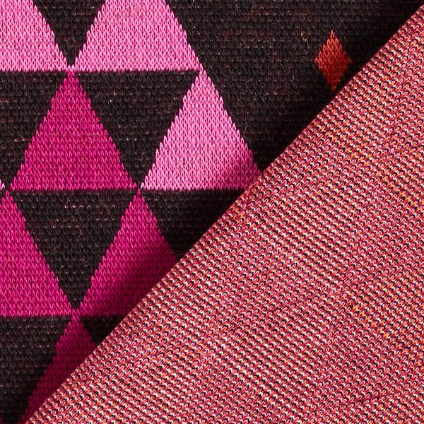 PLAIN STITCHES Cozy Plaid Jacquard Jersey GOTS – noir/rose vif | Hamburger Liebe