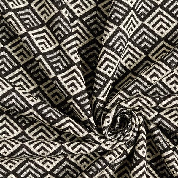 SPARKLE Jacquard maille Tiles – noir/blanc | Albstoffe | Hamburger Liebe