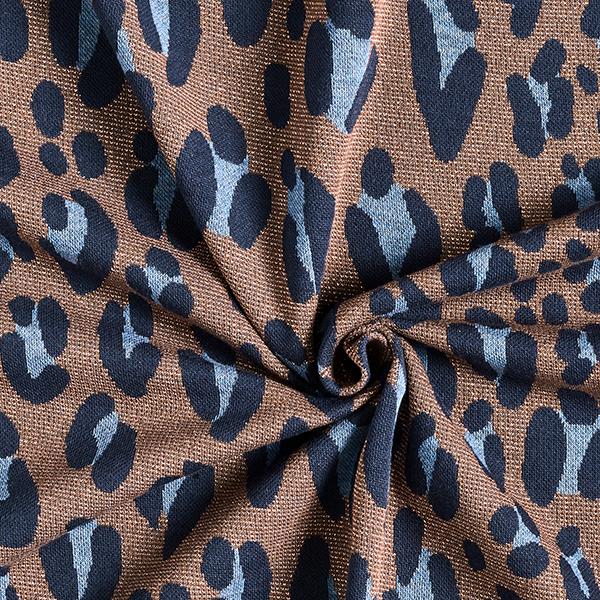 SPARKLE Jacquard maille Safari – cuivre/bleu marine | Albstoffe | Hamburger Liebe