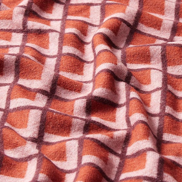ORIENT OXIDENT Wooltouch Maille Jacquard Fatima GOTS – terre cuite | Albstoffe | Hamburger Liebe