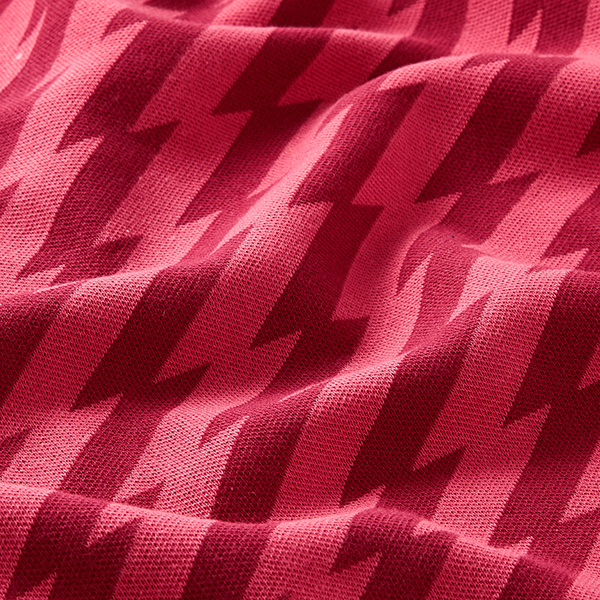 SWEET HOME Maille Jacquard Good Vibes GOTS – rouge bordeaux | Albstoffe | Hamburger Liebe