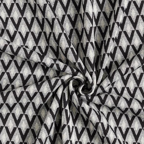 SHINE jacquard maille Shine Bright avec Lurex soft touch – argent/noir | Albstoffe | Hamburger Liebe