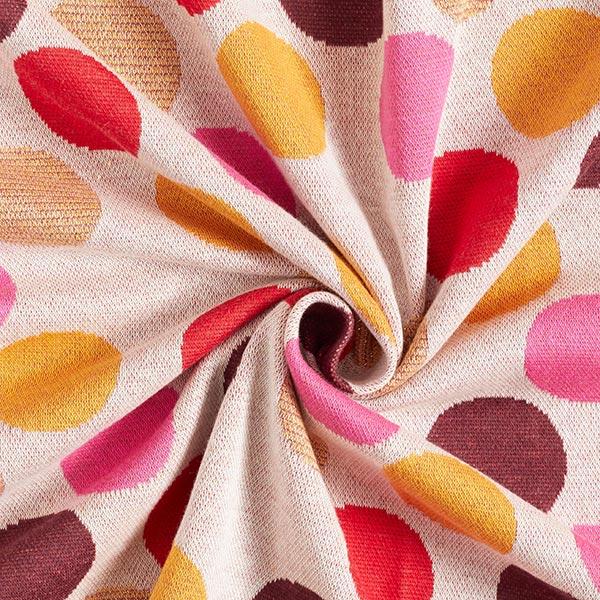 SHINE jacquard maille Spot On avec Lurex soft touch – écru | Albstoffe | Hamburger Liebe