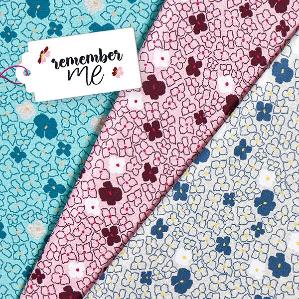 REMEMBER ME Jacquard maille Fleurs Forget-Me-Not GOTS – rose/rouge bordeaux