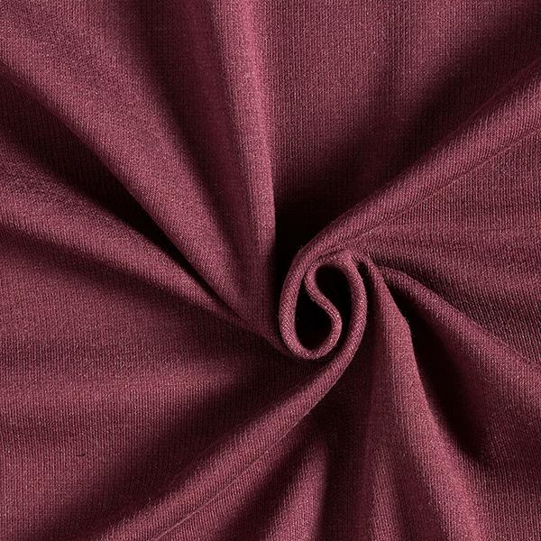 REMEMBER ME Doubleface Jersey uni Change Me GOTS – rose/rouge bordeaux
