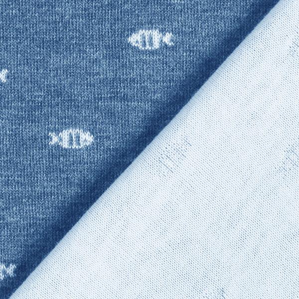 AHOI Jersey double face bio Poissions GOTS – bleu jean