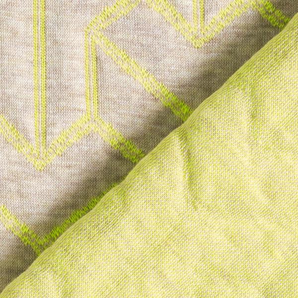 PLAIN STITCHES Brick Step Cloqué Jersey GOTS – nature/jaune | Hamburger Liebe
