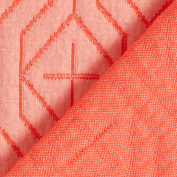 SWEET HOME Maille Jacquard Snuggle Step GOTS – orange | Albstoffe | Hamburger Liebe