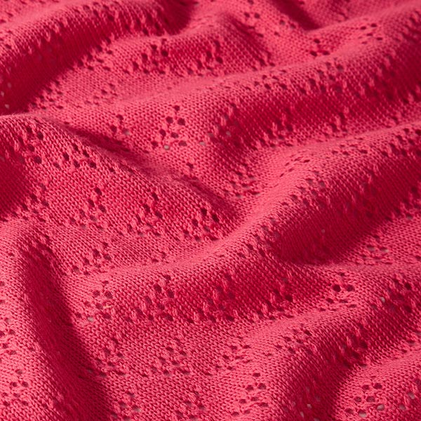 Weekender Triangle Knitty Tissu maille GOTS 2e choix – rose vif | Albstoffe | Hamburger Liebe
