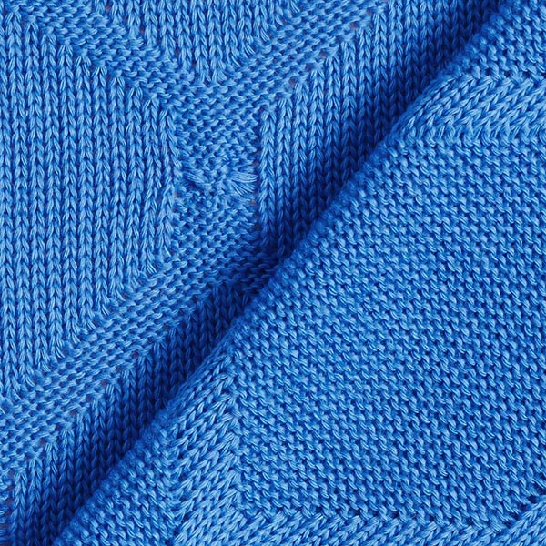 PLAIN STITCHES Cross Knitty Maille coton GOTS – bleu roi | Albstoffe | Hamburger Liebe