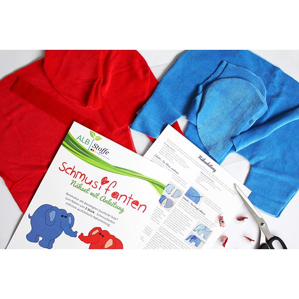 Schmusifant Set de couture – bleu/rouge