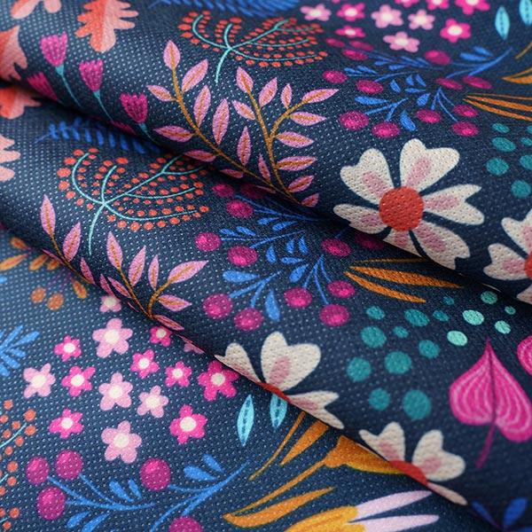 SHIELD CoverMe HEIQ Viroblock Flower Field – marineblau   Albstoffe