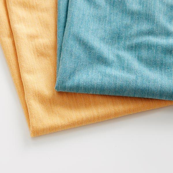 Jersey simple coton-laine fine rayures GOTS – pétrole | Albstoffe