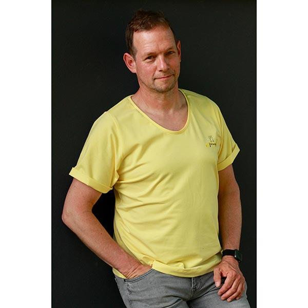 SUMMER MÉLANGE Jersey coton GOTS – jaune clair | Hamburger Liebe