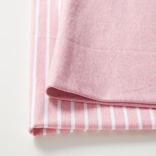 Jersey coton bande GOTS – rose/blanc | Albstoffe