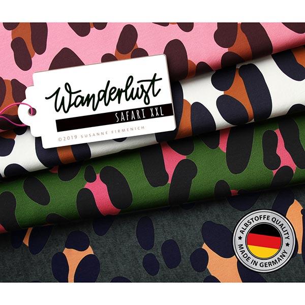 Wanderlust Safari XXL Druck Sweat GOTS – rosa | Albstoffe | Hamburger Liebe