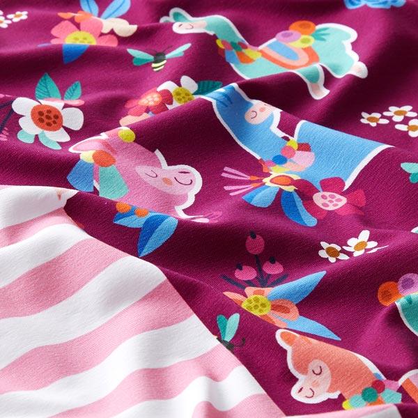 LAMAKA Panel jersey coton Alpaga cool 70cm GOTS – baies   Albstoffe   Hamburger Liebe
